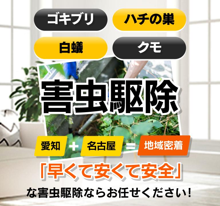 名古屋を中心に愛知県岐阜県の害虫駆除ならお任せ下さい